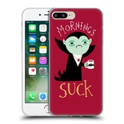 Official DINOMIKE FUN ILLUSTRATIONS Mornings Suck Soft Gel Case for Apple iPhone 7 Plus (C_1FA_1BB1F)