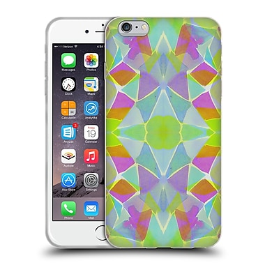 OFFICIAL AMY SIA KALEIDOSCOPE Chroma Lime Soft Gel Case for Apple iPhone 6 Plus / 6s Plus (C_10_1AB62)