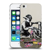 OFFICIAL BRANDALISED BANKSY TAGS Bunting Soft Gel Case for Apple iPhone 5 / 5s / SE (C_D_18DE0)