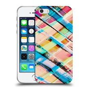 OFFICIAL AMY SIA GEOMETRIC Check Stripe Soft Gel Case for Apple iPhone 5 / 5s / SE (C_D_1AB51)