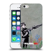 OFFICIAL BRANDALISED BANKSY TAGS Crayon Shooter Soft Gel Case for Apple iPhone 5 / 5s / SE (C_D_18DDD)