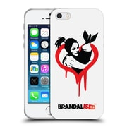 OFFICIAL BRANDALISED BANKSY RED BLACK ART Love The Bomb Soft Gel Case for Apple iPhone 5 / 5s / SE (C_D_18DF3)