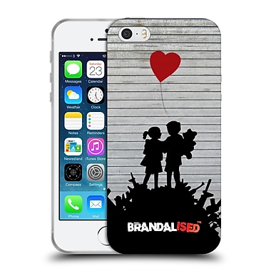 OFFICIAL BRANDALISED BANKSY TAGS Bombsite Love Soft Gel Case for Apple iPhone 5 / 5s / SE (C_D_18DDE)