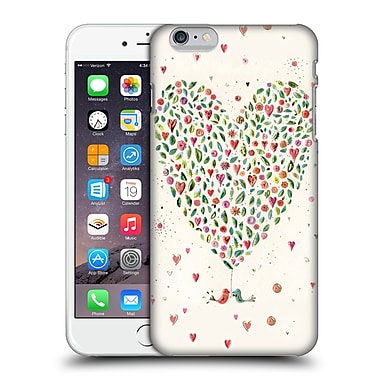 OFFICIAL TURNOWSKY BOLD BEAUTIFUL Heart Of Flowers Hard Back Case for Apple iPhone 6 Plus / 6s Plus (9_10_1CE2E)