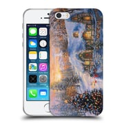 Official Christmas Mix Winter Wonderland Nicky Boehme Cottage 2 Soft Gel Case for Apple iPhone 5 / 5s / SE (C_D_1D3A8)