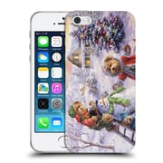 Official Christmas Mix Winter Wonderland Nicky Boehme Fun Loving Merriment Soft Gel Case for Apple iPhone 5 / 5s / SE