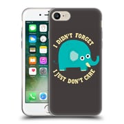 Official DINOMIKE FUN ILLUSTRATIONS An Elephant Never Cares Soft Gel Case for Apple iPhone 7 (C_1F9_1BB1B)