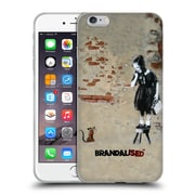 OFFICIAL BRANDALISED BANKSY TEXTURED ART Girl On A Stool Soft Gel Case for Apple iPhone 6 Plus / 6s Plus (C_10_19A42)