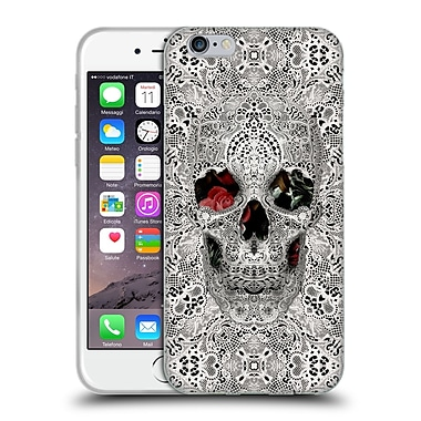 OFFICIAL ALI GULEC THE MESSAGE Lace Skull Light Soft Gel Case for Apple iPhone 6 / 6s (C_F_1BD58)