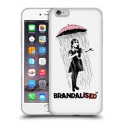 OFFICIAL BRANDALISED BANKSY WALL ART Umbrella Girl Soft Gel Case for Apple iPhone 6 Plus / 6s Plus (C_10_19A4C)