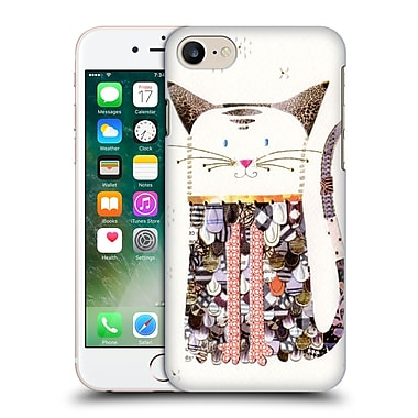 OFFICIAL TURNOWSKY MILLE FEUILLE Cat Cutout Hard Back Case for Apple iPhone 7 (9_1F9_1CE6D)