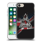 Official Def Leppard Logo Union Jack Soft Gel Case for Apple iPhone 7 (C_1F9_1D6E2)