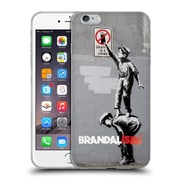 OFFICIAL BRANDALISED BANKSY WALL ART Gaffiti Is A Crime Soft Gel Case for Apple iPhone 6 Plus / 6s Plus (C_10_19A50)