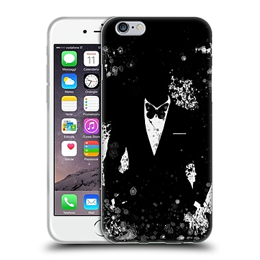 OFFICIAL ARON ART GENTLEMAN Butterfly Black And White Soft Gel Case for Apple iPhone 6 / 6s (C_F_1DF02)