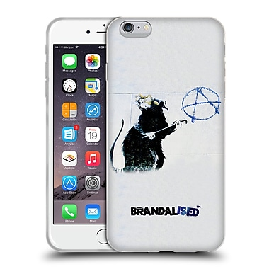 Official Brandalised Banksy Textured Art Hollywood Rat Soft Gel Case For Apple Iphone 6 Plus / 6S Plus