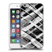 OFFICIAL AMY SIA GEOMETRIC Check Stripe B & W Soft Gel Case for Apple iPhone 6 Plus / 6s Plus (C_10_1AB50)