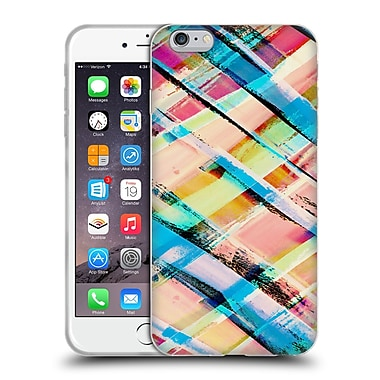 Official Amy Sia Geometric Check Stripe Soft Gel Case For Apple Iphone 6 Plus / 6S Plus