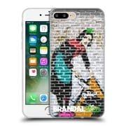 OFFICIAL BRANDALISED BANKSY COLOURED ART Camden Maid Soft Gel Case for Apple iPhone 7 Plus (C_1FA_18DFB)