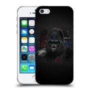 OFFICIAL ARON ART ANIMALS Gorilla Soft Gel Case for Apple iPhone 5 / 5s / SE (C_D_1DEFB)