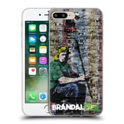OFFICIAL BRANDALISED BANKSY COLOURED ART Painter Soft Gel Case for Apple iPhone 7 Plus (C_1FA_18DFF)