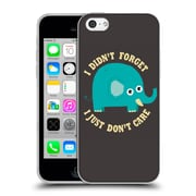 Official Dinomike Fun Illustrations An Elephant Never Cares Soft Gel Case for Apple iPhone 5c