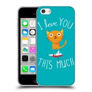 Official Dinomike Fun Illustrations I Love You This Much Soft Gel Case for Apple iPhone 5c