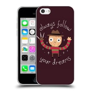 Official Dinomike Fun Illustrations Always Follow Your Dreams Soft Gel Case for Apple iPhone 5c