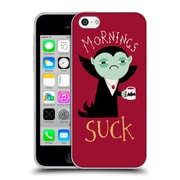 Official Dinomike Fun Illustrations Mornings Suck Soft Gel Case for Apple iPhone 5c