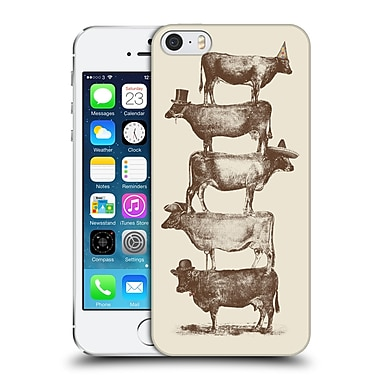 Official Florent Bodart Animals 2 Cow Cow Nuts Big Hard Back Case For Apple Iphone 5 / 5S / Se