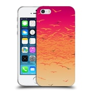 Official Amy Sia Animal Prints Flock Together Sunset Soft Gel Case For Apple Iphone 5 / 5S / Se