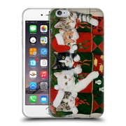 Official Christmas Mix Pets William Vanderdasson Kittens Soft Gel Case for Apple iPhone 6 Plus / 6s Plus