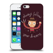 Official Dinomike Fun Illustrations Always Follow Your Dreams Soft Gel Case for Apple iPhone 5 / 5s / SE
