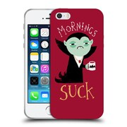 Official Dinomike Fun Illustrations Mornings Suck Soft Gel Case for Apple iPhone 5 / 5s / SE