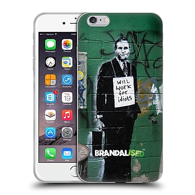 Official Brandalised Banksy Textured Art Work For Idiots Soft Gel Case For Apple Iphone 6 Plus / 6S Plus