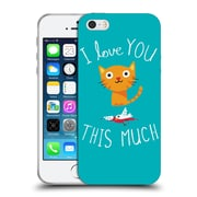 Official Dinomike Fun Illustrations I Love You This Much Soft Gel Case for Apple iPhone 5 / 5s / SE