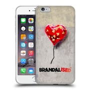 Official Brandalised Banksy Wall Art Bandaged Heart Soft Gel Case For Apple Iphone 6 Plus / 6S Plus