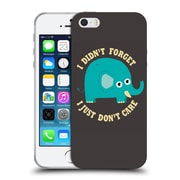 Official Dinomike Fun Illustrations An Elephant Never Cares Soft Gel Case for Apple iPhone 5 / 5s / SE