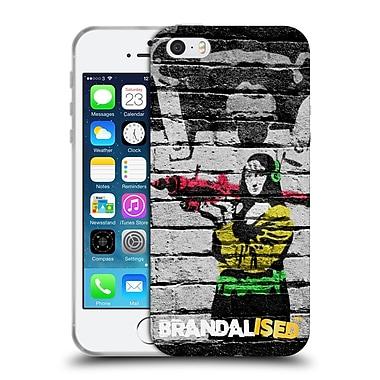 Official Brandalised Banksy Coloured Art Monkey Soft Gel Case For Apple Iphone 5 / 5S / Se