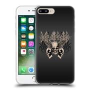 Official Def Leppard Design Skull 1 Soft Gel Case for Apple iPhone 7 Plus