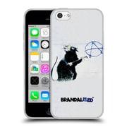 Official Brandalised Banksy Textured Art Hollywood Rat Soft Gel Case For Apple Iphone 5C