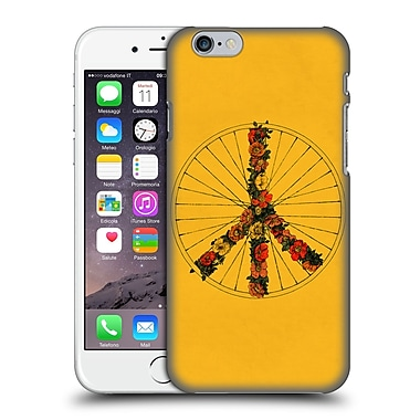 Official Florent Bodart Bikes Peace Yellow Hard Back Case For Apple Iphone 6 / 6S