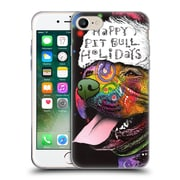 Official Christmas Mix Pets Dean Russo Pitbull Soft Gel Case for Apple iPhone 7