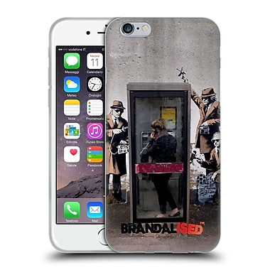 Official Brandalised Banksy Graffiti Spy Booth Soft Gel Case For Apple Iphone 6 / 6S