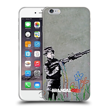 Official Brandalised Banksy Tags Crayon Shooter Soft Gel Case For Apple Iphone 6 Plus / 6S Plus