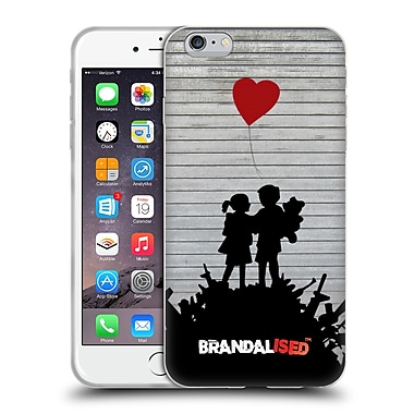 Official Brandalised Banksy Tags Bombsite Love Soft Gel Case For Apple Iphone 6 Plus / 6S Plus