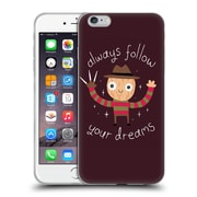 Official Dinomike Fun Illustrations Always Follow Your Dreams Soft Gel Case for Apple iPhone 6 Plus / 6s Plus