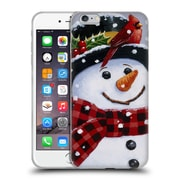 Official Christmas Mix Snowman William Vanderdasson Perched Soft Gel Case for Apple iPhone 6 Plus / 6s Plus