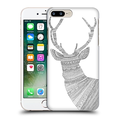 Official Florent Bodart Animal Lines Stag White Hard Back Case For Apple Iphone 7 Plus