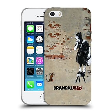 Official Brandalised Banksy Textured Art Girl On A Stool Soft Gel Case For Apple Iphone 5 / 5S / Se
