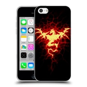 Official Christos Karapanos Dragons Mark Stamp Fire Soft Gel Case for Apple iPhone 5c
